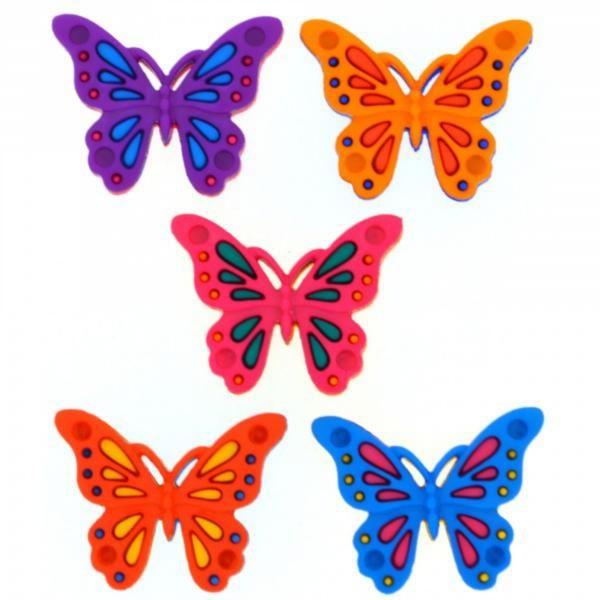9006 Декоративные пуговицы. Бабочки | Dress it up США