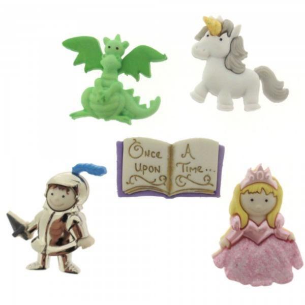 7021 Декоративные пуговицы. Рыцарь и принцесса | Dress it up США