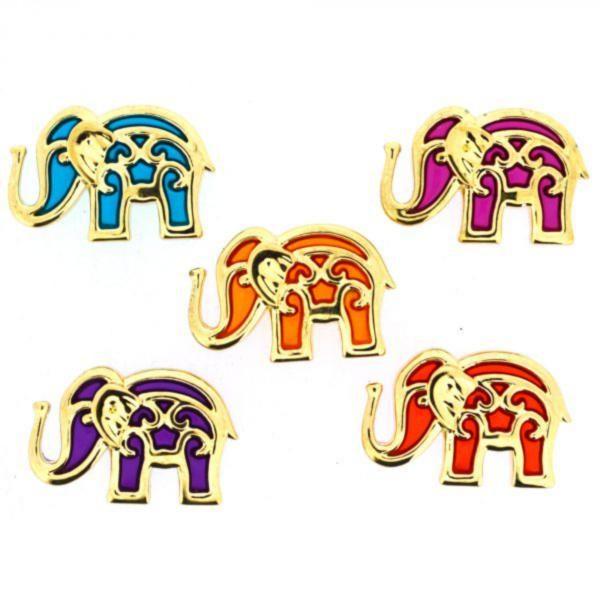 9361 Декоративные пуговицы. Индийские слоны    Dress it up США