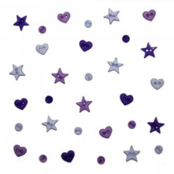 3253 Декоративные пуговицы. Форма фиолетового | Dress it up США