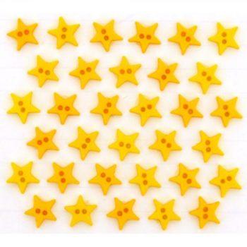 2923 Декоративные пуговицы. Звезды желтые   Dress it up США
