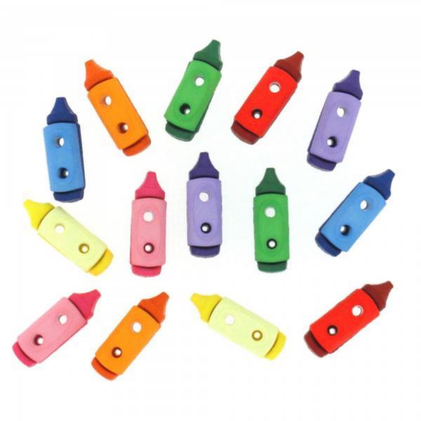 6931 Декоративные пуговицы. Цветные мелки | Dress it up США