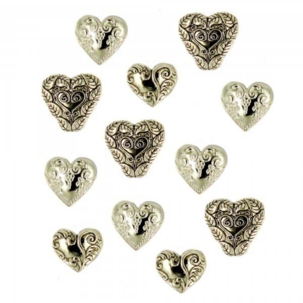 13 Украшение. Сердца золотые | Dress it up США