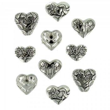 14 Украшение. Сердца серебряные | Dress it up США