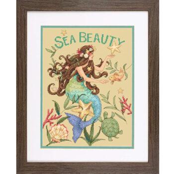 """70-35376 Набор для вышивания крестом """"Морская красота • Sea Beauty"""" DIMENSIONS"""