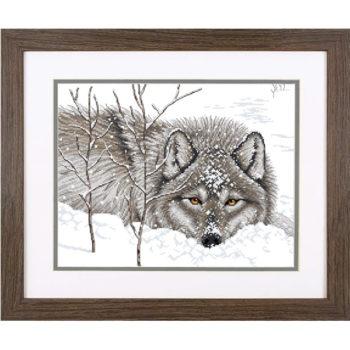 """70-35377 Набор для вышивания крестом """"Снежный волк • Snow Daze"""" DIMENSIONS"""