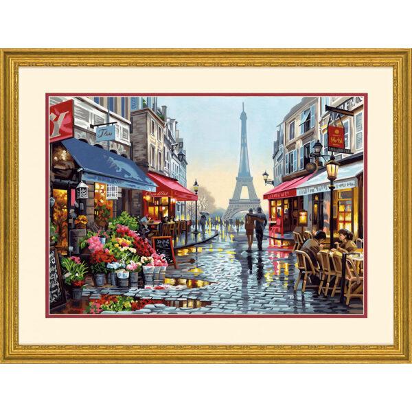 """73-91651 Набор для рисования красками по номерам """"Цветочный магазин в Париже • Paris Flower Shop"""" DIMENSIONS"""