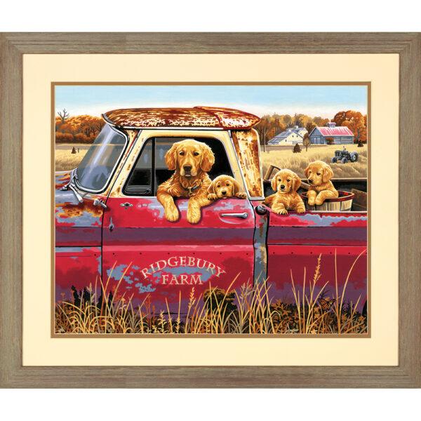 73-91525 Набор для рисования красками по номерам «Золотая поездка • Golden Ride» DIMENSIONS
