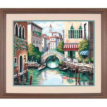 "91303 Набор для рисования красками по номерам ""Живописный канал • Scenic Canal"" DIMENSIONS"