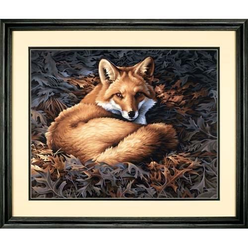 """91380 Набор для рисования красками по номерам """"Солнечная лиса • Sunlit Fox"""" DIMENSIONS"""