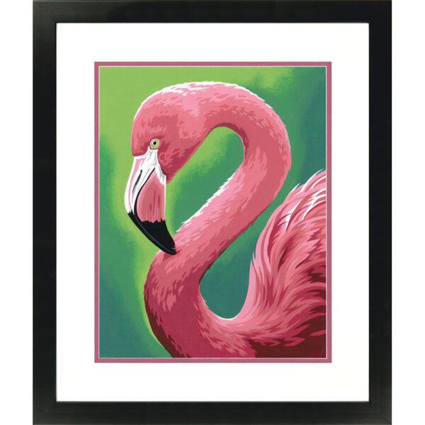 73-91677 Набор для рисования красками по номерам «Фламинго • Flamingo Fun» DIMENSIONS