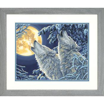 "73-91670 Набор для рисования красками по номерам ""Волки в лунном свете • Moonlight Wolves"" DIMENSIONS"