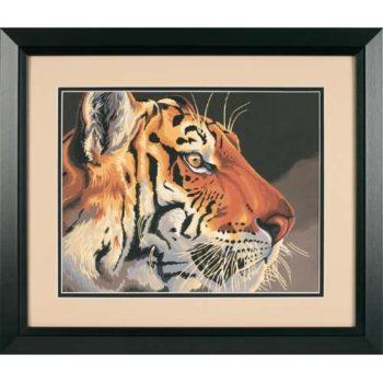 """91323 Набор для рисования красками по номерам """"Королевский тигр • Regal Tiger"""" DIMENSIONS"""