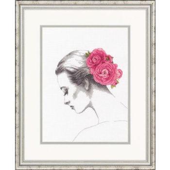 """70-35379 Набор для вышивания крестом """"Цветочный портрет • Floral Portrait"""" DIMENSIONS"""