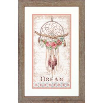 """70-35375 Набор для вышивания крестом """"Цветочный ловец снов • Floral Dream Catcher"""" DIMENSIONS"""
