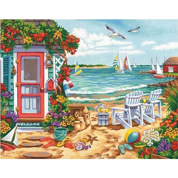 73-91676 Набор для рисования красками по номерам «Время лета • Summer time» DIMENSIONS