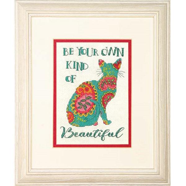 """70-65190 Набор для вышивания крестом """"Пейсли кошка • Paisley Cat"""" DIMENSIONS"""