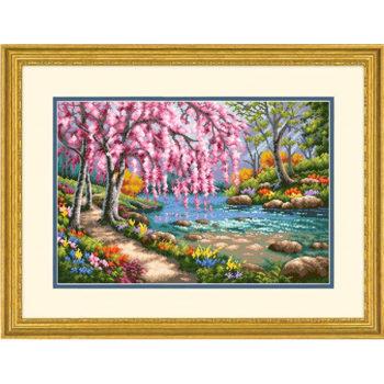 """70-35374 Набор для вышивания крестом """"Вишня в цвету • Cherry Blossom Creek"""" DIMENSIONS"""