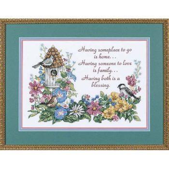 """03160 Набор для вышивания крестом """"Цветочный стих • Flowery Verse"""" DIMENSIONS"""