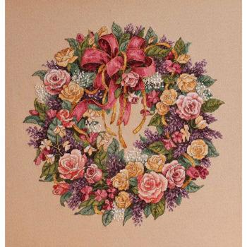 """03837 Набор для вышивания крестом """"Wreath of Roses • Венок из роз"""" DIMENSIONS"""