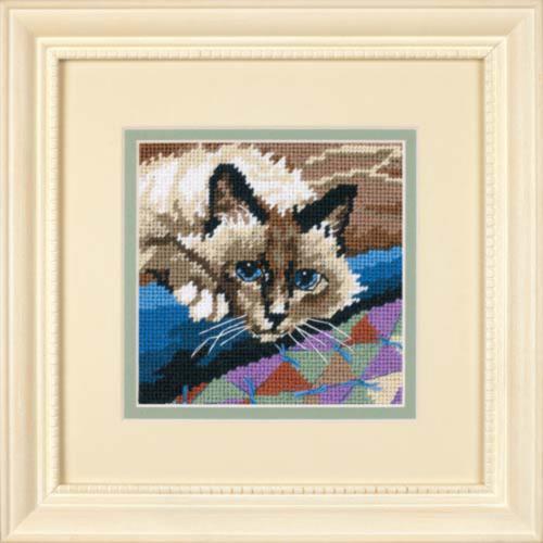 """7228 Набор для вышивания (гобелен) """"Cuddly Cat • Милый котик"""" DIMENSIONS"""