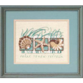 """73152 Набор для вышивания """"Seashells • Морские ракушки"""" DIMENSIONS"""