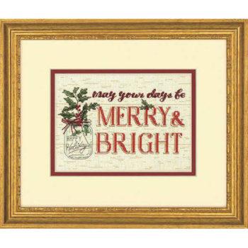 """70-08982 Набор для вышивания крестом """"Merry and Bright • Весело и ярко"""" DIMENSIONS"""