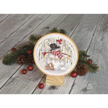 """70-08979 Набор для вышивания крестом """"Joyful Snowglobe • Радостный снежный шар"""" DIMENSIONS"""