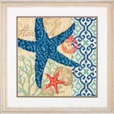 "71-20075 Набор для вышивания подушки (гобелен) "" Starfish • Морская звезда"" DIMENSIONS"