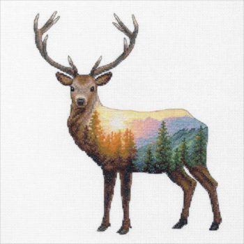 """70-35387 Набор для вышивания крестом """"Deer scene • Олень"""" DIMENSIONS"""