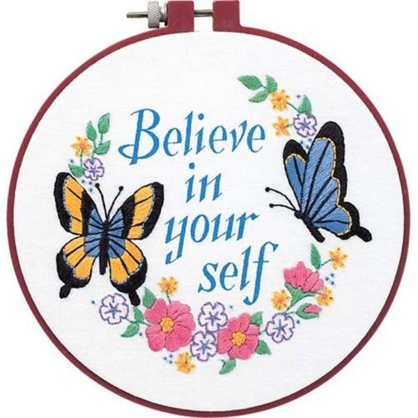 """72409 Набор для вышивания крестом гладью """"Believe in yourself • Верь в себя"""" DIMENSIONS"""