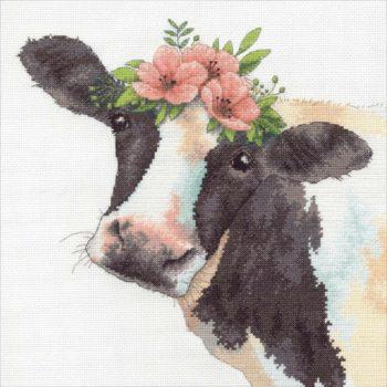 "70-35386 Набор для вышивания крестом ""Sweet cow • Милая корова"" DIMENSIONS"