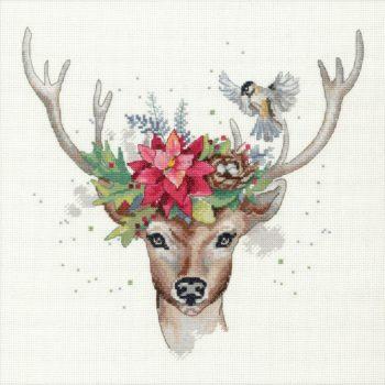 """70-08981 Набор для вышивания """"Woodland deer • Лесной олень"""" DIMENSIONS"""