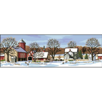 "03841 Набор для вышивания крестом ""Scenic Farm • Живописная ферма"" DIMENSIONS"