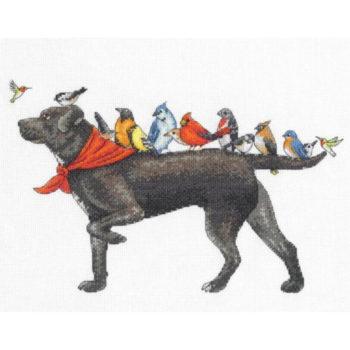 """70-35385 Набор для вышивания крестом """"Bird dog • Птичий пёс"""" DIMENSIONS"""