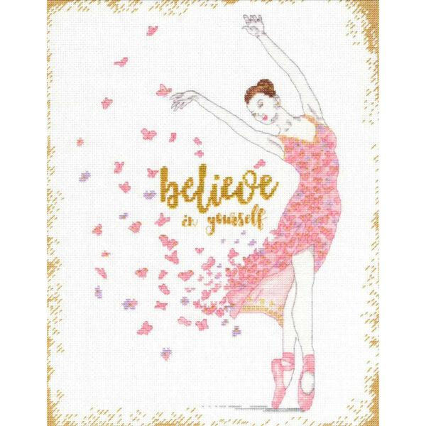 """70-35384 Набор для вышивания крестом """"Dream Dancer • Тансовщица мечты"""" DIMENSIONS"""
