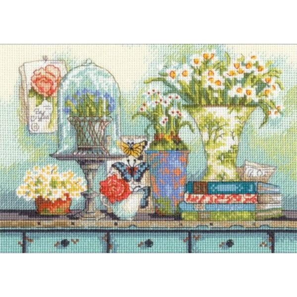 """70-65194 Набор для вышивания крестом """"Garden collectibles • Садовые предметы"""" DIMENSIONS"""