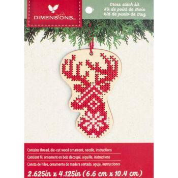 """72-76057 Набор для вышивания крестом """"Deer Wood Ornament • Олень"""" DIMENSIONS"""