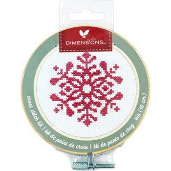 """72-76049 Набор для вышивания крестом """"Snowflake • Снежинка"""" DIMENSIONS"""