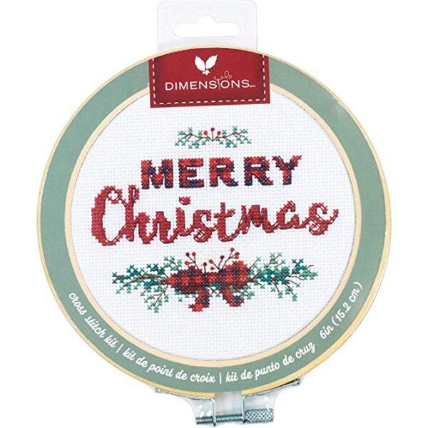 """72-76043 Набор для вышивания крестом """"Merry Christmas • Счастливого Рождества"""" DIMENSIONS"""