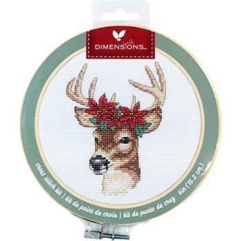 """72-76040 Набор для вышивания крестом """"Deer • Олень"""" DIMENSIONS"""