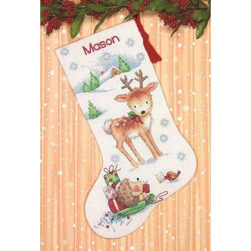 """70-08978 Набор для вышивания крестом """"Reindeer and Hedgehog • Северній олень и ежик"""" DIMENSIONS"""