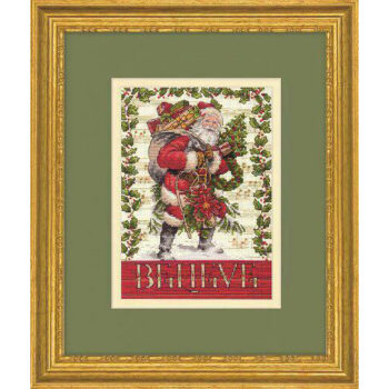 """70-08980 Набор для вышивания крестом """"Believe in Santa • Верить в Санту"""" DIMENSIONS"""