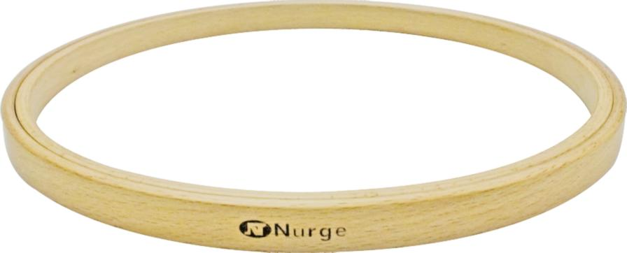 130-7 Пяльцы Nurge деревянные без винта, высота обода 8мм, диаметр 280мм