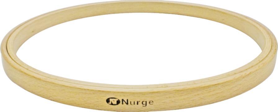 140-2 Пяльцы Nurge деревянные без винта, высота обода 16мм, диаметр 130мм