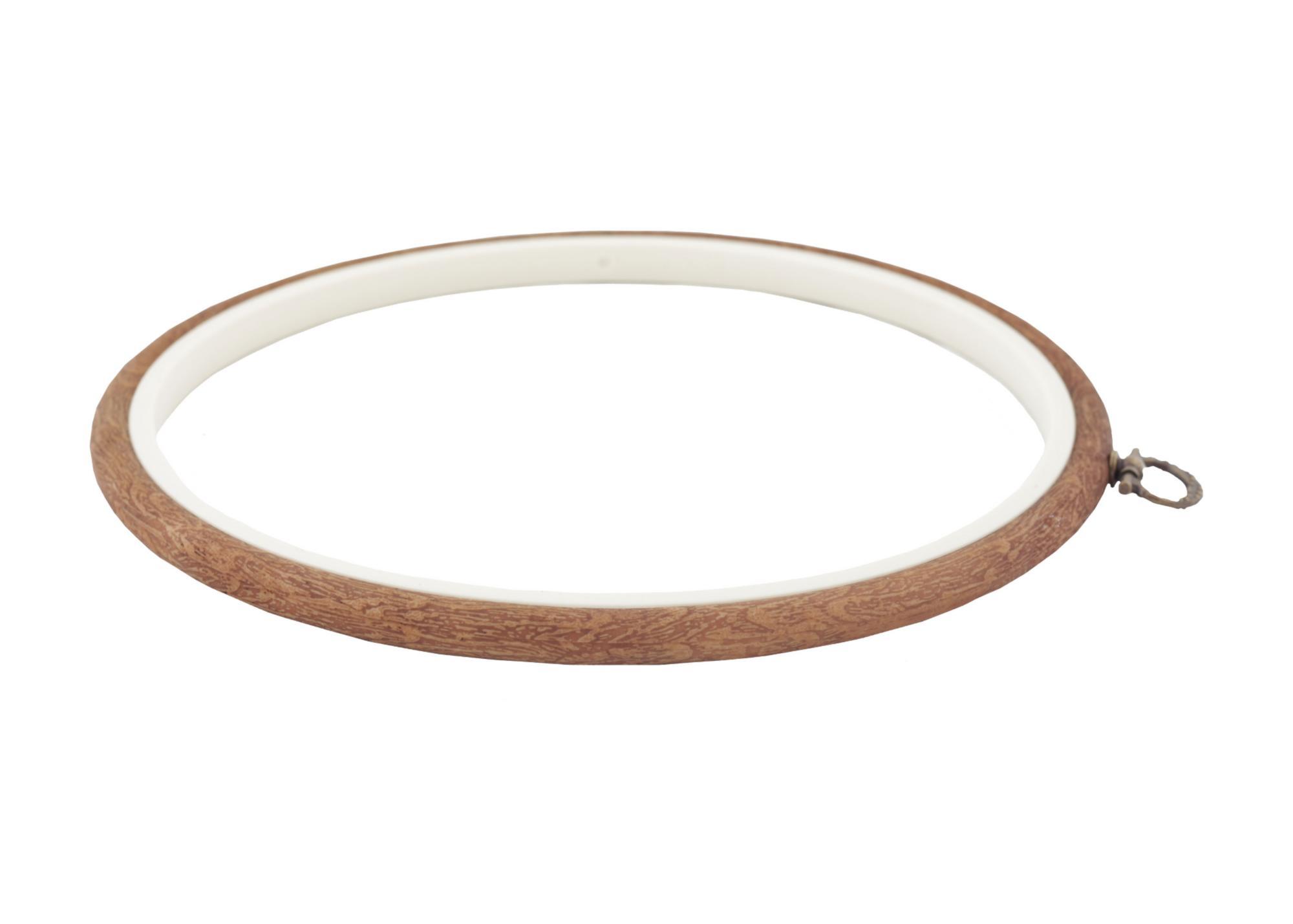 230-4 Пяльцы-рамка Nurge круглые каучуковые с подвесом, высота обода 8мм, диаметр 205мм