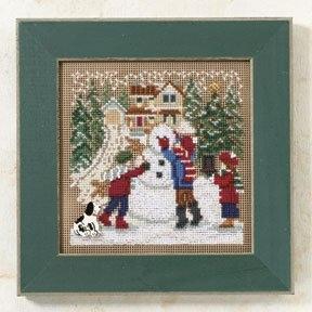"""Набор для вышивания """"Snow Day • Снежный день"""" Mill Hill MH149302"""