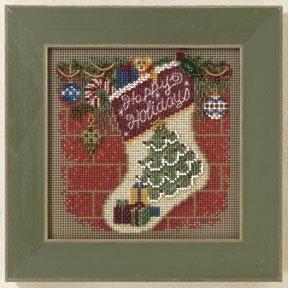 """Набор для вышивания """"Holiday Stocking • Рождественский чулок"""" Mill Hill MH141305"""