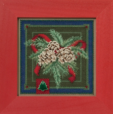 "Набор для вышивания ""Festive Pine • Праздничная сосна"" Mill Hill MH141634"