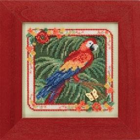 """Набор для вышивания """"Parrot • Попугай"""" Mill Hill MH144101"""